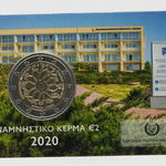 Küpros 2 euro 2020.a. Neurology and Genetics, coincard