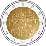 Portugal 2 euro 2018. 250 Years of the National Mint UNC