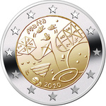 Malta 2 Euro 2020a. Children's games (UNC)