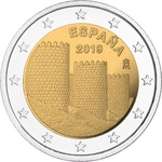 Hispaania 2 euro 2019 The old town of Avila UNC