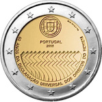 "Portugal 2 euro 2008, ""Human Rights"", UNC"